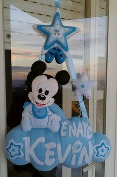 Fiocco nascita personalizzato di Topolino Baby Mickey, Baby Banners, Baby Mobile, Disney Crafts, Diy For Kids, Diy And Crafts, Minnie Mouse, Baby Shower, Crafty