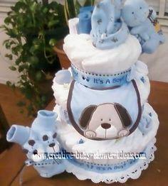 Make puppy diaper Cake Favors | Puppy Diaper Cake