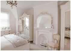 all white look...looks lovely and serene but how tired would you get without some color??.