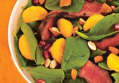 8 PPV - Steak and Spinach Salad with Pomegranate Dressing /  25 Low-Cal Salads That Fill You Up