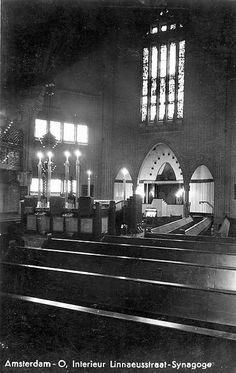 Synagoge, hoek Linnaeusstraat/Polderweg, 1928