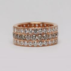 Champagne and white diamond eternity band by Oliver Smith Jeweler.