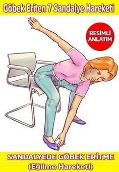 Belly Melting Movements in the Chair 4 Sandalyede Göbek Eritme Hareketleri 4 Belly Melting Movements in the Chair 4 Fitness Home, Fitness Diet, Yoga Fitness, Health Fitness, Pilates, Fit Board Workouts, Gym Workouts, Teenager Training, Movement Fitness