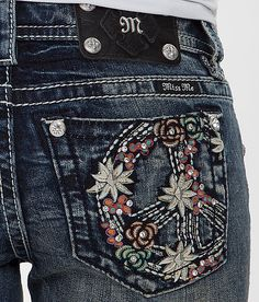 Miss Me Floral Boot Stretch Jeans... I have these I love them!!