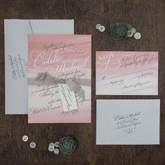 Watercolor Wedding Invitation   Calligraphy   Jen Simpson Design   Poppy Shoppe Productions   Southern California Wedding Coordinator