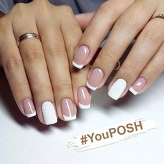 is a white French manicure on square nails. This is a white French manicure on square nails.This is a white French manicure on square nails. Nail Manicure, Toe Nails, Nail Polish, Stiletto Nails, Coffin Nails, French Tip Nails, French Manicures, Bridal Nails, Wedding Nails