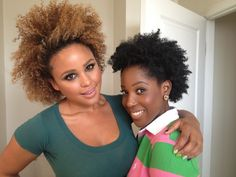 Ashley and Hayley of Black TV's Hello Cupid // Natural Hair Style Icons