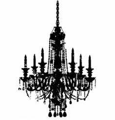 Vintage chandelier vector