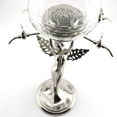 Decorative Metal Fairy Absinthe Fountain – Four Faucets $229.95