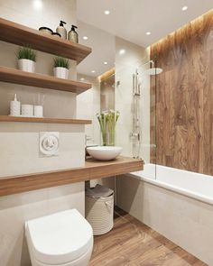 Contemporary bathrooms 836121487052884571 - Contemporary Wooden Bathroom Design Ideas 2019 42 Amazing Contemporary Bathroom Design Ideas Source by cokhiin Modern Contemporary Bathrooms, Modern Bathroom Design, Bathroom Interior Design, Contemporary Decor, Bath Design, Contemporary Shelves, Tile Design, Marble Interior, Contemporary Cottage