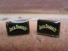 Vintage Jack Daniels Cufflinks Wedding Men's by TreeTownPaper, $26.00