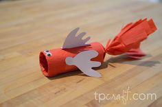 DIY Children's Craft -  Toilet Paper Roll Fish Tutorial