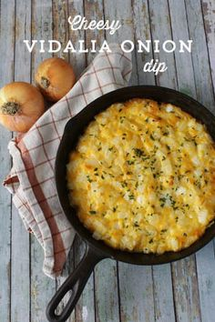 Cheesy Baked vidalia onion dip I can get the vidalia onions here cheap thx god.Its my fav outside of the peruvian sweet onions..I will try this soon...Cheese yum.:)