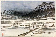 After the Snowfall  by Ito Shinsui, 1921  (published by Watanabe Shozaburo)