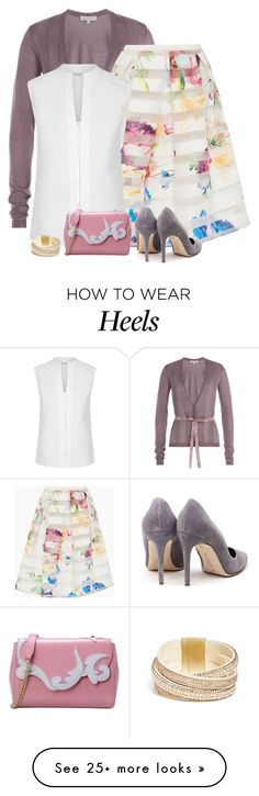 """""""friday"""" by divacrafts on Polyvore featuring Etro, Ted Baker, Hobbs, Rupert Sanderson, Boutique Moschino, GUESS and Original"""