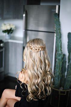 Blonde braids & curls - OliviaRink.com