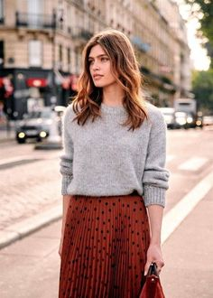 Mode Outfits, Skirt Outfits, Fashion Outfits, Fashion Tips, Fall Winter Outfits, Autumn Winter Fashion, Dresses For Winter, Autumn Dresses, Autumn Style
