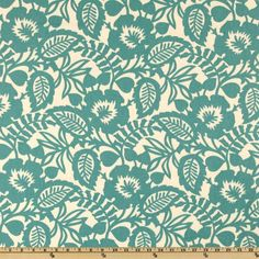 Waverly Esmee Turquoise from @fabricdotcom  This Waverly Home Décor weight fabric is as versatile as it is gorgeous! Screen printed on cotton this fabric is perfect for window treatments (swags valances, curtains, and  draperies), bed skirts, duvet covers, pillows, slipcovers, upholstery, tote bags, aprons and more! Colors include ivory and teal (turquoise).