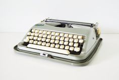 Vintage Typewriter  Green Cole Steel Portable by thewhitepepper, $145.50