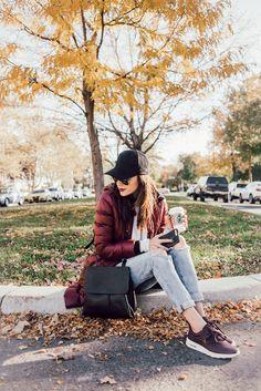 Nikes + Starbucks + My favorite fall layers