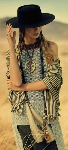 TatiTati Style  ➳➳➳ boho, feathers + gypsy spirit