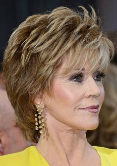 jane fonda hairstyle 2015 | Jane Fonda's Short Hairstyles: Shaggy Pixie Cut with Bangs /Source ...