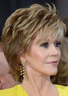 jane fonda hairstyle 2015 | Jane Fonda's Short Hairstyles: Shaggy Pixie Cut with Bangs /Source ...