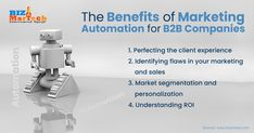 The Benefits of Marketing Automation for B2B Companies  #fromwhereistand #wahm #entrepreneur #smallbusiness #socialmedia #socialmediamarketing #network #networkmarketing #success #goals #beyourself #advertise #contentmarketing #Digitalmarketing #SEO #blogging #marketing #branding #marketingtips #marketingstrategy #startup #b2bmarketing #automation #benefits #robot