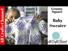 Make a beautiful crochet baby sweater using Granny squares. In this post I will show you how to make this baby sweater. Even beginners can make it.