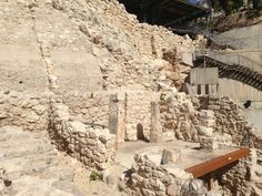 Ruins from King David's temple