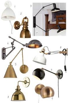 Night Brights: 9 Brass, Black, And White Wall Sconces For Your Bedroom