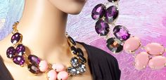 SAVE $65 - Multi-Colored Gem Fashion Necklace - JUST $4.99 Shipped! (07/29/14 Only)