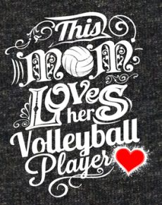 This Mom Loves Her Volleyball Player - Dark Heather Grey Short Sleeve Volleyball T-Shirts - Mom, Dad & Coach Items Cute Volleyball Shirts, Volleyball T-shirts, Basketball Shorts Girls, Volleyball Outfits, Volleyball Quotes, Volleyball Pictures, Volleyball Players, Volleyball Tattoos, Volleyball Crafts