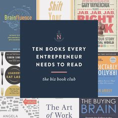 Can't miss tips on: 10 Books All Entrepreneurs Need to Read — for Creative Entrepreneurs and Marketers http://nataliefranke.com/2017/03/books-all-entrepreneurs-need-to-read/