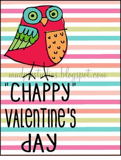 Digital download - Chappy Valentine's Day - include a tube of chapstick for a non-candy treat. Happy Valentine's Day