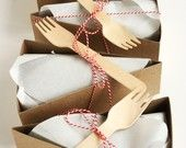 DELUXE Wedge-Shaped Pie Box Kits (Forks and other accessories included) - set of 24. $25.00, via Etsy.