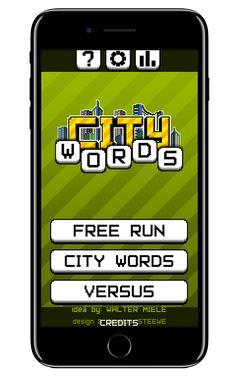 CityWords è un app con cui ti divertirai a formare parole con lettere, superando svariati livelli e vincendo tanti bonus per giocare ancora. Scarica l'app!