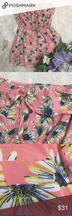 """American Rag NWOT Pink Flower Patterned Romper 👍 for notifications   💸 bundle to save   Never before worn romper that is perfect for looking cute on those summer days ~ wear to a dance ~ wear while on a girls day out~wear for a cute vacation Instagram pic  Bust: 14"""" Length: 22"""" 100% Rayon American Rag Pants Jumpsuits & Rompers"""