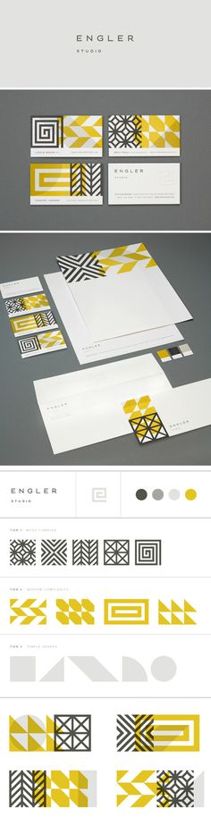 Eight Hour Day- Engler Studio Identity  - love these patterns, really drives home brand identity