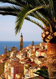 Menton, Provence-Alpes-Cote d'Azur, France - such a great vacation and much cheaper than staying in Nice Places Around The World, Oh The Places You'll Go, Places To Travel, Places To Visit, Around The Worlds, Wonderful Places, Beautiful Places, Belle France, South Of France