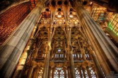Barcelona-Sagrada Familia-church.   Copyright ©Ken Kaminesky