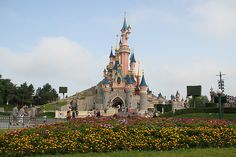Sleeping Beauty Castle on a lovely sunny day ... I love this view! #disneylandparis