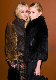 Mary-Kate & Ashley Olsen at the 2011 New York Film Festival. #style #beauty #olsentwins #mka #celebrity #fur