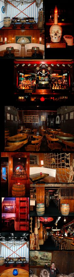 The Redwood Bar & Grill in downtown Los Angeles has an amazing pirates theme. Great ideas & inspiration for a Pirates of the Caribbean party!!