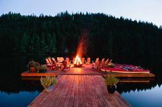 Firepit on the dock