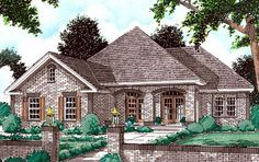 House Plan 68143 | European Plan with 1849 Sq. Ft., 3 Bedrooms, 2 Bathrooms, 2 Car Garage