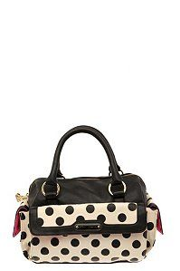 Betsey Johnson - Black And Ivory Spot On Satchel