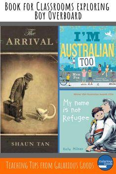10 Books for Classrooms Exploring Boy Overboard — Galarious Goods Teaching Boys, Teaching Ideas, Morris Gleitzman, Language Study, Language Arts, Australian Authors, Mentor Texts, Book Study, What Book
