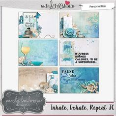 Inhale, Exhale, Repeat Journal Cards [PU]