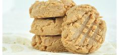 3-Ingredient Peanut Butter Cookies  1 cup unsalted natural peanut butter -1/4 cup and 1 tbsp maple syrup -1 tsp sea salt